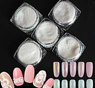 Недорогие -5 бутылок / набор стиль конфеты цвета ногтей искусство блеск DIY красоты сахар покрытие голографический пигмент блестящий порошок сладкий