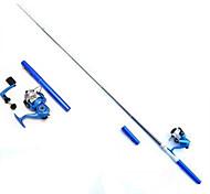 Недорогие -Спиннинг Складная удочка Удилище Iso Удочка Удилище Iso Армированный пластик 100 см Морское рыболовство Ловля нахлыстом Ловля со льда