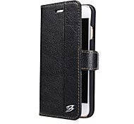 Fierre shann brand  Card Holder Wallet with Stand Case Genuine Leather for Apple iPhone 7 Plus /iPhone 7