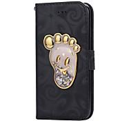 Для яблока iphone 7 7 плюс текущее жидкое пятно с жидким пятном pu кожаный чехол для apple iphone 6s 6 plus se 5s 5