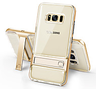 abordables -Funda Para Samsung Galaxy S8 Plus S8 Antigolpes con Soporte Transparente Funda Trasera Color sólido Dura TPU para S8 Plus S8 S7