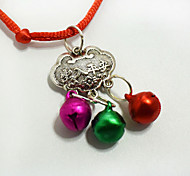 Fashion pet longevity lock pendant necklace Small dogs cats bell collar Clothing Decorations Christmas Accessories
