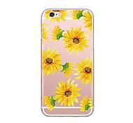 Для крышки случая ультра тонкий случай задней стороны обложки цветок мягкий tpu для iphone 7 плюс 7 6s плюс 6 плюс 6s se 5s 5