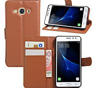 For Case Cover Wallet Card Holder Shockproof with Stand Full Body Case Solid Color Hard PU Leather for SamsungJ7 Prime J7 J5 Prime J5