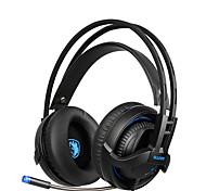 Недорогие -sades sa935 новые глубокие басовые наушники с выдвижным микрофоном ПК игровой гарнитуры стерео профессиональных гарнитуры с