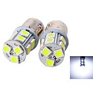 2шт 1156 13 * 5050smd светодиодная лампа для автомобиля белый свет dc12v