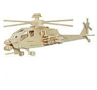 Недорогие -3D пазлы Игрушки Вертолет Дерево Универсальные Куски