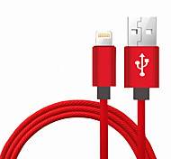 Lightning USB 2.0 Trenzado Portable Alta Velocidad Cable Para iPhone iPad MacBook MacBook Air MacBook Pro cm Nailon Aluminio