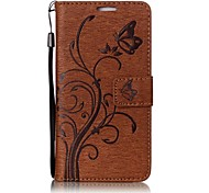 For Huawei Y6 II P10 Butterfly and Flower Embossed Pattern PU Leather Material Wallet Function Phone Case P10 Lite P8 Lite (2017)