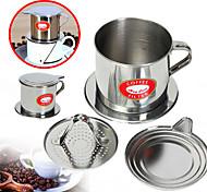 Недорогие -100 мл Нержавеющая сталь Фильтр для кофе , Сварить кофе производитель Многоразового использования с подставкой Cup Инструкция