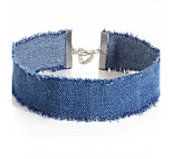 cheap -Women's Choker Necklaces Denim Fabric Alloy Unique Design Jewelry For Party Daily Casual Office & Career Beach 1 pc