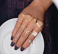 Кольца на вторую фалангу Мода Euramerican Сплав В форме листа Золотой Бижутерия Для Для вечеринок 5 шт.