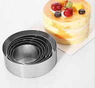 Stainless steel Round Mousse Circle DIY Cake Mold Set Baking Tools Biscuit Mold 6pc/set