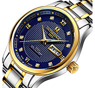 Муж. Нарядные часы Модные часы Кварцевый Календарь сплав Группа Серебристый металл