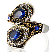 cheap -Women's Statement Rings Ring Personalized Luxury Unique Design Vintage Fashion Euramerican Statement Jewelry Glass Alloy Round Geometric