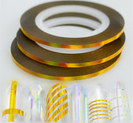 50pcs/box 2mm 20m Fashion Nail Art Laser Gold Glitter Foil Striping Tape Line Rainbow Sparkling DIY Beauty Decoration