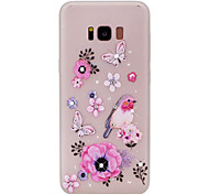 For Samsung Galaxy S8 Plus S8 Butterfly Pattern TPU Material Rhinestone Glow in the Dark Soft Phone Case for S7 Edge S7