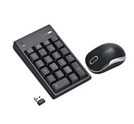 cheap -2.4G Wireless Mini USB Number Numeric Keyboard and Mouse for Laptop Desktop Notebook - Just One USB Port