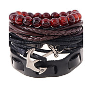 cheap -Men's Women's Leather Leather Bracelet - Fashion Geometric Rainbow Bracelet For Wedding Party Sports