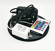 Z®ZDM 5M 300X3528 SMD RGB LED Strip Light and 24Key Remote Controller and 3A EU/US/UK Power Supply (AC110-240V)