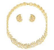 Juego de Joyas Collar Pendientes Set Moda Euramerican Brillante Legierung Sol 1 Collar 1 Par de Pendientes ParaBoda Fiesta Cumpleaños