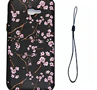 For Samsung Galaxy A7 A3 (2017) Case Cover Peach Blossom Pattern Fuel Injection Relief Plating Button Thicker TPU Material Phone Case A3 A5 (2016)