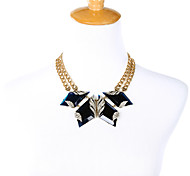 Women's Statement Necklaces Geometric Chrome Fashion Personalized Dark Blue Jewelry For Party Thank You Christmas Gifts 1pc