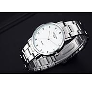 Men's Women's Fashion Watch Quartz / Alloy Band Casual White