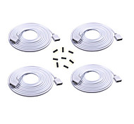 4PCS 2M Long Extension Cable Connect Female Plug For RGB 3528 5050 Strip With 8pcs 4pin Connectors Male