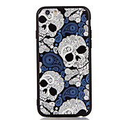 For Apple iPhone 7 7 Plus iPhone 6s 6 Plus Case Cover The Skull Pattern 3D Relief Plastic Back Shell TPU Frame Cases
