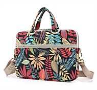 13.3 14.1 15.6 inch Leaf Pattern Laptop Shoulder Bag with Strap Hand Bag for Macbook/Surface/Dell/HP/Samsung/Sony etc