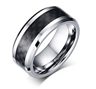 cheap -Men's Ring Basic Euramerican Fashion Personalized Tungsten Carbide Steel Luxury Casual Cool Unique Jewelry For Simple Party Finger Rings
