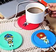 cheap -Drinkware Silica Gel Coaster Girlfriend Gift Boyfriend Gift Heat Retaining Cartoon 1pcs