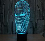 Недорогие -железный человек 3 d проекционной лампы привело акриловые сенсорный визуальный свет