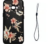 For Samsung Galaxy S8 Plus S8 Case Cover Morning Glory Pattern Fuel Injection Relief Plating Button Thicker TPU Material Phone Case S7 S6 Edge
