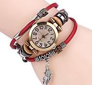 TOP Leather Women Watch Bracelet Wristwatch Wood Ball Charms Black Stripes Dial Fashion Para femme Quartz Clock