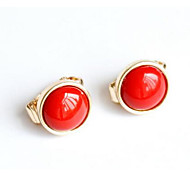 cheap -Women's Synthetic Ruby Clip Earrings - Dangling Style Red For Wedding / Party / Special Occasion