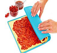 cheap -1Pcs 31Cm*26Cm*0.8Cm Non-Stick Silicone Mat Multifunction Oven Cooking Pad Cake Swiss Roll Pizza Dough Pad Bakeware   Random Color