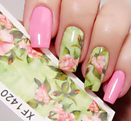 cheap -1 sheet Nail Water Decals Chic Floral Transfer Stickers Flowers Nail Art Sticker Tattoo Decals XF1420