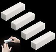 4Pcs/Lot DIY Nail Art Buffer File Block Pedicure Manicure Buffing Sanding Polish White Makeup Beauty Tools