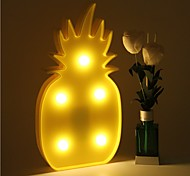 3D LED Night Light Pineapple Night Lamp Romantic Table Lamp Marquee Home Christmas Decor Battery LED Nightlight