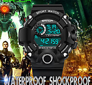 Men's Sport Watch Wrist watch Japanese Digital Calendar / date / day Water Resistant / Water Proof Noctilucent Rubber Band Casual Cool