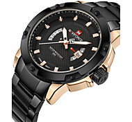 cheap -Men's Wrist Watch / Military Watch / Sport Watch Calendar / date / day / Water Resistant / Water Proof / Creative / Cool Stainless Steel