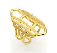 Муж. Жен. Классические кольца Массивные кольца Кольцо Бижутерия Круглый дизайн Уникальный дизайн Геометрический Двойной слой Кроссовер