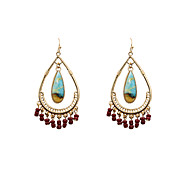 cheap -Women's Drop Earrings Jewelry Bohemian Turkish Euramerican Fashion Alloy Oval Jewelry Christmas Gifts Wedding Party Special Occasion
