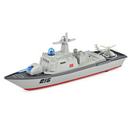 Недорогие -Игрушки Наборы для моделирования Вертолет Авианосец Игрушки моделирование Военные корабли Авианосец Корабль Вертолет Металлический сплав
