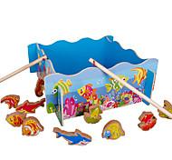 Недорогие -Конструкторы Рыболовные игрушки Для получения подарка Конструкторы Оригинальные и забавные игрушки Дерево 2-4 года 5-7 лет Игрушки