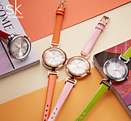 SK New Fashion Black Womens Wrist Watches Leather Watchband Luxury Brand Simple Ladies Geneva Quartz Clock Female Gifts 2017