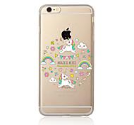 Недорогие -Чехол для iphone 7 7 плюс рисунок единорога tpu мягкая задняя крышка мультфильма для iphone 6 плюс 6 с плюс iphone 5 se 5s 5c 4s