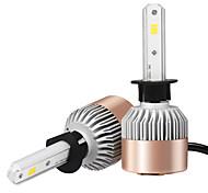 Недорогие -2шт h1 csp светодиодный фонарик фары автомобиля белый свет 6500k 7200lm вождение фары дальнего света лучей фары автоматическое освещение